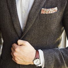 It's all about the pocket square today.