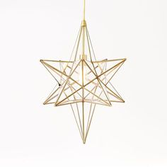 Moroccan Glass Pendant, Tapered Star