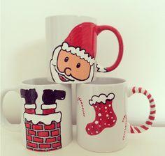 Doo Lally Doo hand painted Christmas mugs... ❤️☕️
