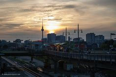 #Sunset at #S-Bahnhof #Warschauer #Strasse in #Berlin #Germany - #Travel #Photography #Cityscape