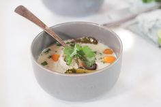 This Whole30 Instant Pot Thai Coconut Soup (Tom Kha Gai) is one of my favorite comfort foods. Instead of ordering take out, you can easily make this Paleo friendly version in your own kitchen!