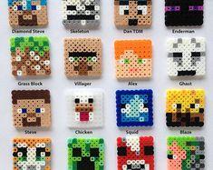 16 Minecraft blocks the game world in the real world- Es ist genial! 16 Minecraft Blöcke die Spielwelt in der realen Welt zu bringen It& brilliant! 16 Minecraft blocks to bring the game world in the real world. Perler Bead Designs, Perler Bead Templates, Hama Beads Design, Hama Beads Patterns, Beading Patterns, Hama Beads Minecraft, Diy Perler Beads, Minecraft Crafts, Perler Bead Art