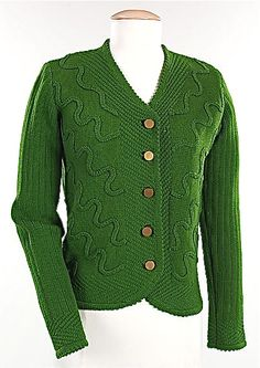 Schiaparelli, 1938. My favorite color is green. Love this sweater.