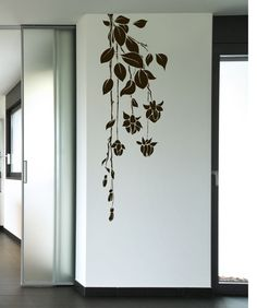 Vinyl Wall Decal Sticker Hanging Flowers from StickerBrand. Shop more products from StickerBrand on Wanelo. Simple Wall Paintings, Creative Wall Painting, Wall Painting Decor, Creative Walls, Wall Decor, Wall Painting Flowers, Simple Wall Art, Diy Wand, Wall Decal Sticker