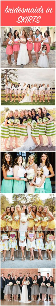 Bridesmaids in Skirts | The Budget Savvy Bride