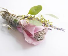 Smudge Sticks, White Roses, Wands, Smudging, Sage, Miami, Cottage, Positivity, Crystals