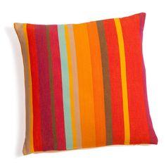 maisons du monde 10 €-Housse de coussin à rayures en coton multicolore 40 x 40 cm COPACABANA