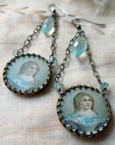 french debutante  vintage assemblage earrings by TheFrenchCircus, $79.00