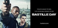 To celebrate the release of the movie, Bastille Day starring Idris Elba (Pacific Rim) and Richard Madden (Game of Thrones) we have 20 double passes to give away. Competition closes Wednesday 11 May.