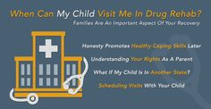 """Leaving Your Child to to Enter an Addiction Treatment Facility is a Very Difficult, but Necessary, Decision. We Answer """"When Can My Child Visit Me in Drug Rehab?"""" in Our Latest Blog Post. Give it a Read.  http://www.drugrehab.org/when-can-my-child-visit-me-in-drug-rehab/"""
