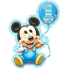 Amscan Disney Baby Mickey's Birthday Deluxe Jumbo Postcard Invitation Piece), X Blue Mickey 1st Birthdays, Mickey Mouse First Birthday, Mickey Mouse Birthday Invitations, Happy Birthday Girls, Mickey Mouse Clubhouse, 1st Boy Birthday, Birthday Ideas, Bolo Mickey Baby, Festa Mickey Baby