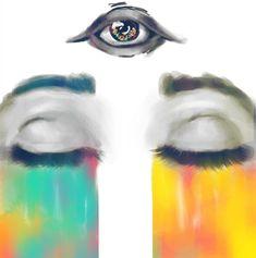 #third eye #rainbow #painting #art #chakra