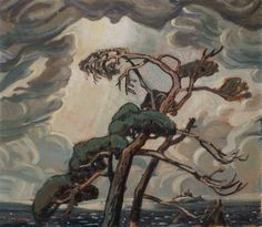 Group of Seven - Arthur Lismer - Pine Trees, Georgian Bay Group Of Seven Artists, Group Of Seven Paintings, Canadian Painters, Canadian Artists, Emily Carr Paintings, Tom Thomson Paintings, Canada Images, Landscape Paintings, Tree Paintings