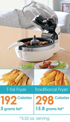 ~C~ *Healthy Fryer, T-fal Actifry, Low-fat Deep Fryer. Enjoy fried foods without the fat and extra calories!
