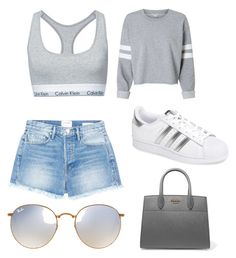 """""""Casual #12"""" on Polyvore featuring Calvin Klein, Frame, adidas, Ray-Ban and Prada"""