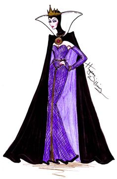 The Disney Diva Villainess collection by Hayden Williams: The Evil Queen Moda Disney, Arte Disney, Disney Fan Art, Disney Style, Disney Love, Disney Magic, Evil Disney, Hayden Williams, Moda Fashion