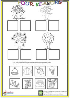 5 Cut and Paste Season Worksheet Kids Worksheets Kindergarten Science Curriculum Abeka √ Cut and Paste Season Worksheet . 5 Cut and Paste Season Worksheet . Cut and Paste Worksheets Pdf Cut and Paste Monster Factory Volume 2 in Seasons Worksheets, Weather Worksheets, Seasons Activities, Free Kindergarten Worksheets, Kindergarten Science, Worksheets For Kids, Printable Worksheets, Free Printable, Alphabet Worksheets