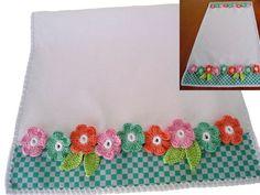 Trilho Centro de Mesa Flores de Croche | msmusical artesanato | Elo7