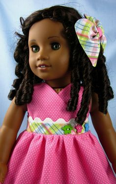 Cute and simple. American Girl Doll Clothes Sundress and par SewMyGoodnessShop, $20,00