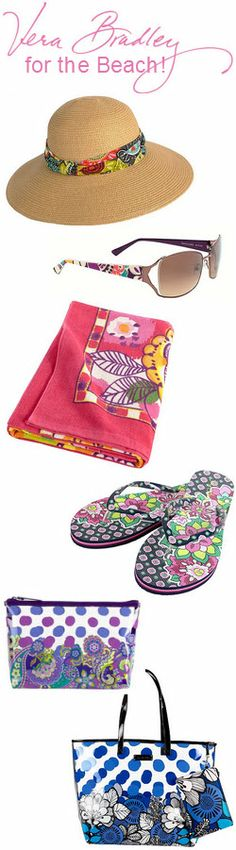 #VeraBradley at #WalkOnWater.  Are you ready for the beach????  We have everything you need.  #LakeMary and #WinterPark #Florida.  #Beach #hat #towel #flipflops #sunglasses #beachbag #floppyhat #plasticbag