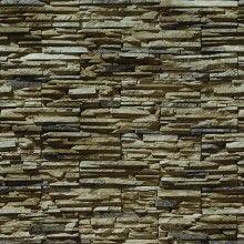 Papel de Parede Pedras em Filetes Marrom