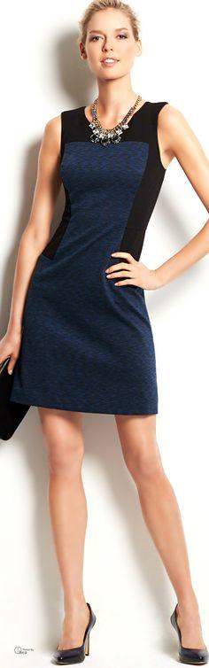 Ann Taylor ● Color Block Sheath Dress                                                                                                                                                      More
