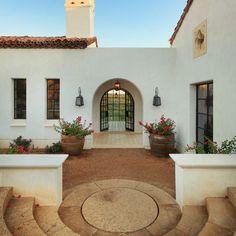 Spanish colonial courtyard