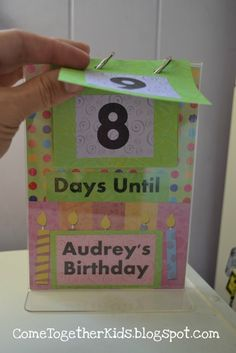 I try to make birthdays a big deal for my kids. What a fun way to count down to their special day!