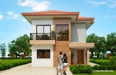 Elisa – Four Bedroom Compact Two Storey House Design | Pinoy ePlans Small Modern House Plans, Modern Small House Design, Small House Interior Design, 2 Story House Design, Duplex House Design, House Layout Plans, My House Plans, Philippines House Design, Two Storey House Plans
