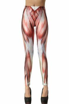 Amazon.com: Solilor Fashion Muscle Print Women Spandex Leggings: Clothing