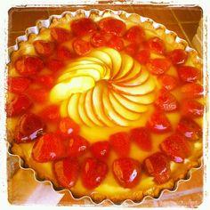 pie Torta de morango e maça