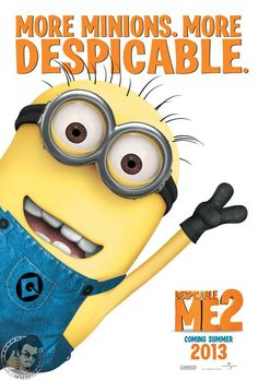 Despicable Me 2 - Seriously can not wait for the sequel to one of my ABSOLOUTE fav animate movies evr!