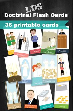 Must have LDS flashcards for every family. These are not just regular flash cards - but there are 19 ideas on how to use these with every age! Really fun activities plus a great General Conference listening activity!