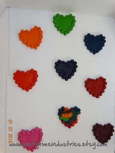 Heart with Ruffles Shaped Crayons by PartyTimeIndustries on Etsy