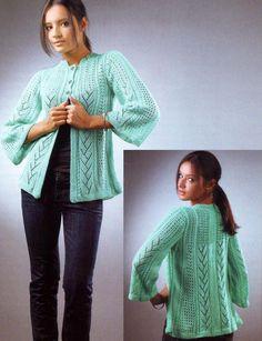 Turquoise Pattern-Mix Cardigan