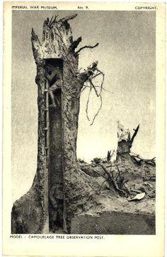 Observation Post model postcard