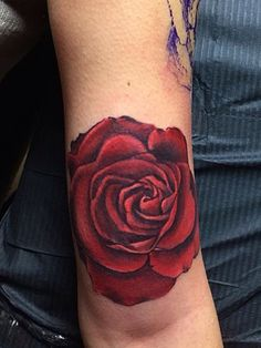 Half arm in progress....first rose...