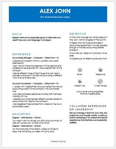Account Representative Resume Download At HttpWriteresumeOrg
