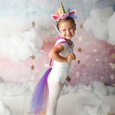 Rainbow Unicorn Costume - Girls Unicorn Costume - Rainbow Unicorn Tail Costume - Adult Unicorn Costume - Womens Unicorn Costume with Tail - Everyone wants to be a unicorn! Now make it happen with this funny unicorn costume set that is made - Most Popular Halloween Costumes, Unicorn Halloween Costume, Halloween Costumes For Kids, Dementor Costume, Evie Halloween, Kids Costumes Girls, Maleficent Costume, Rainbow Tutu, Rainbow Unicorn