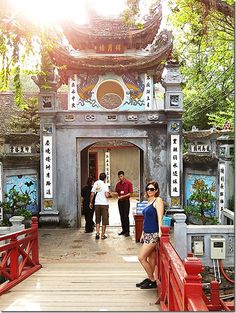 Hoan Kiem Lake, Ngoc Son Temple & Red Bridge - a popular tourist and local spot! - Click the link to read about our other recommended hotspots in Hanoi!