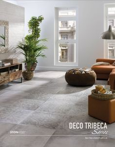 Porcelanosa tribeca caliza cement look tile with pattern for Carrelage porcelanosa