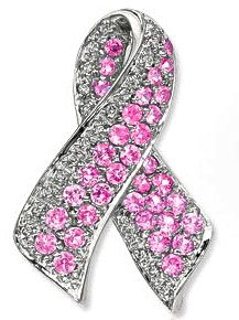 Pink Sapphire Pin (for breast cancer awareness)