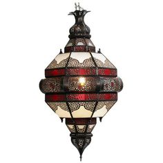 Come shop our Moroccan lanterns at Mix Furniture! Red and frosted white glass hand cut metal work lantern. Metal Art Projects, Metal Crafts, Moroccan Lanterns, Moroccan Lighting, Foyer Lighting, Lighting Design, Black Ceiling, Moroccan Style, Moroccan Decor