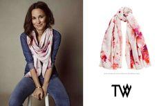 Pippa Middleton. Tabitha Webb BHF Scarf (£295). Tabitha Webb, Pippa Middleton Style, Kate And Pippa, Charlotte Casiraghi, Royal Style, Royal Fashion, Kimono Top, Mary, Queen