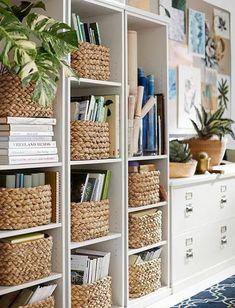 27 trendy home office bookshelves playrooms Home Office Design, Home Office Decor, Home Design, Diy Home Decor, Office Ideas, Interior Office, Design Ideas, Craft Room Design, Office Setup