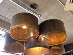 Oil drum lighting