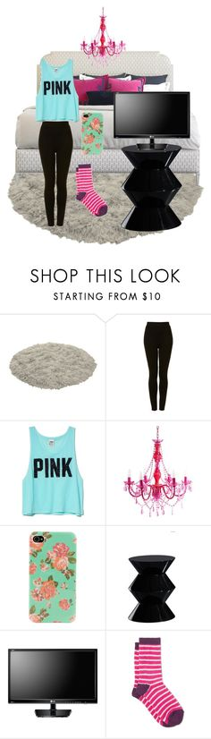 """Relaxing at Home"" by elise-22 ❤ liked on Polyvore featuring Topshop, Victoria's Secret PINK, ALDO, Bellini Modern Living, CO and White Stuff"