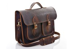 Brown Twin Pocket Executive Satchel  £185 + £16 shipping to Canada