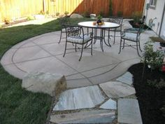 Broom Finish Patio Colored Concrete
