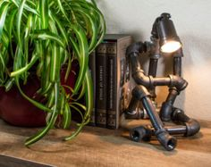 STEAMPUNK Industrial ROBOT Lamp / USB Device Cradle by BleuHarvest                                                                                                                                                                                 More